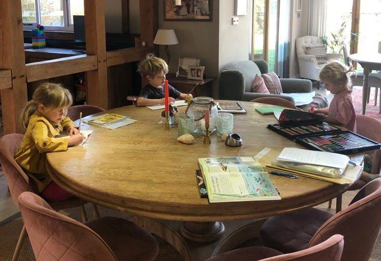 homeschooling kids during lockdown