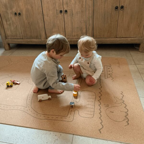toddlers playing on non toxic baby play mats