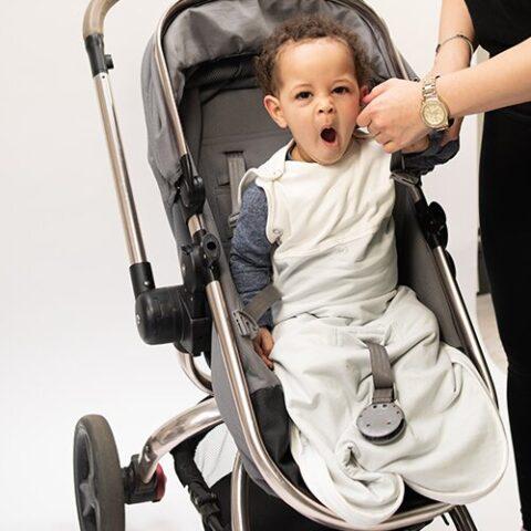 organic baby sleeping bag with seatbelt pocket