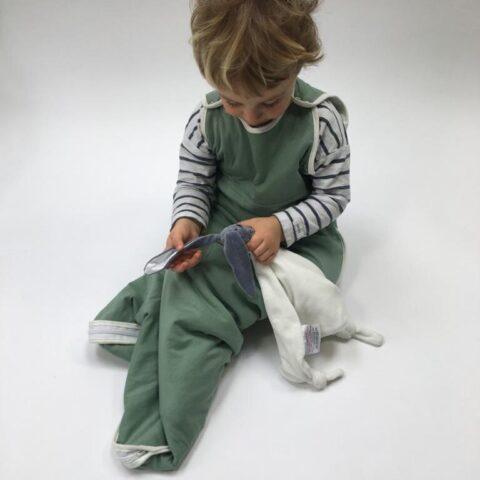 organic baby sleeping bag in green