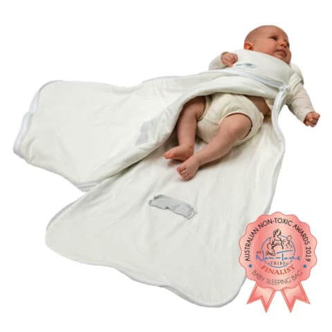 organic baby sleeping bag finalist for Australian non-toxic awards