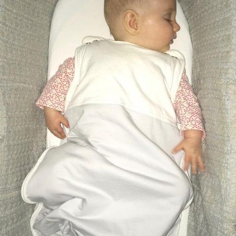 organic baby sleeping bag producing melatonin during sleep